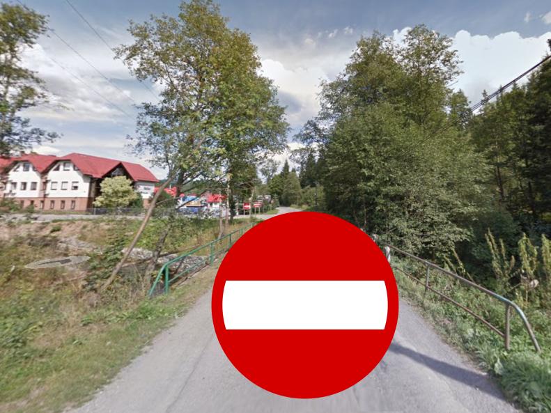 Zamknięta droga w piatek w Istebnej