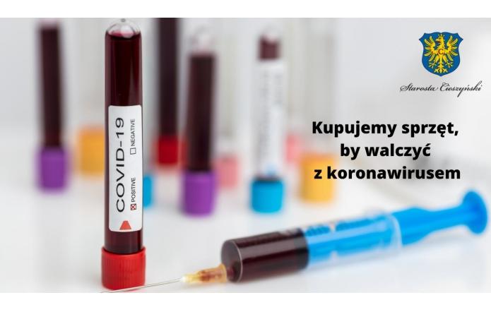 Kupią sprzęt do  walki z koronawirusem